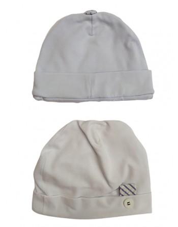 Cappellini cotone 0-1 mese 2 colori