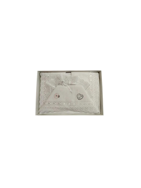 Set lenzuola culla lettino cotone da ricamare 3 pz