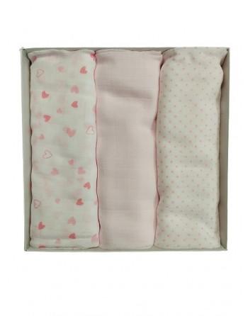 Tris Quadrati in garza neonato