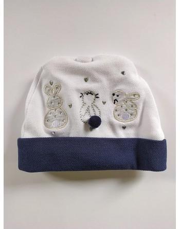 Cappello cotone neonato 0-3 mesi