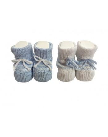 Babbucce cotone 0-3 mesi