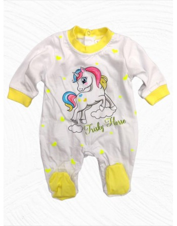 Tutina cotone neonata manica lunga da 0 a 12 mesi