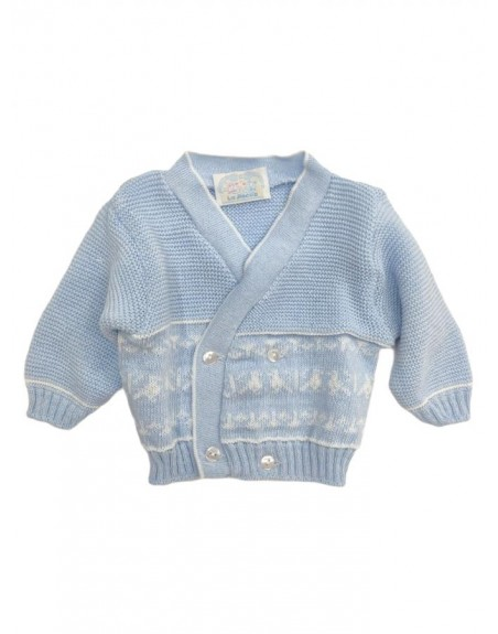 Giacchino in filo cotone neonato 0-3 mesi