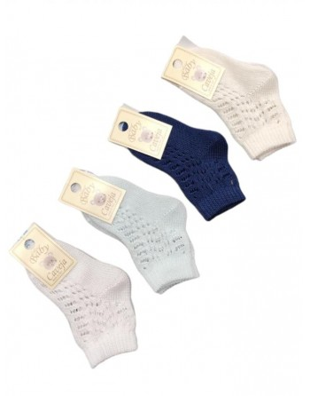 Calzini bucherellati in cotone da 15 a 16 taglia piede