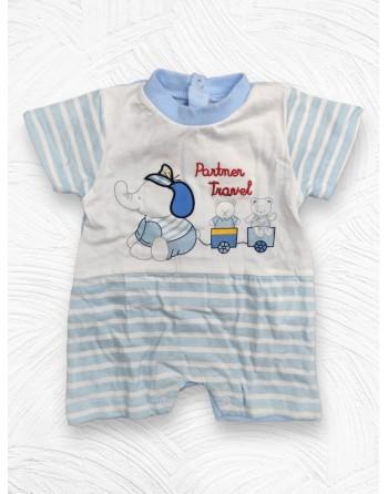 Tutina cotone mezza manica neonato da 0 a 12 mesi