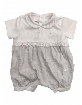 Tutina cotone mezza manica neonato mesi