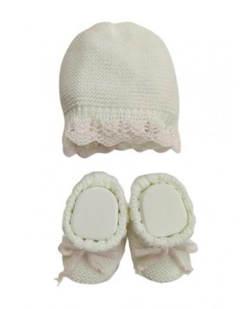 Cappello con babbucce invernale mesi neonato