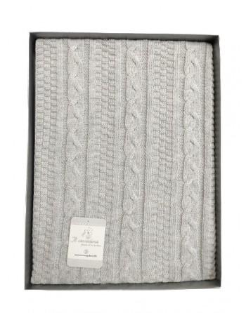 Copertina scialle in filo cotone neonato 75x95cm