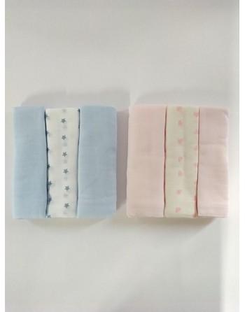 Tris quadrati cotone garzato