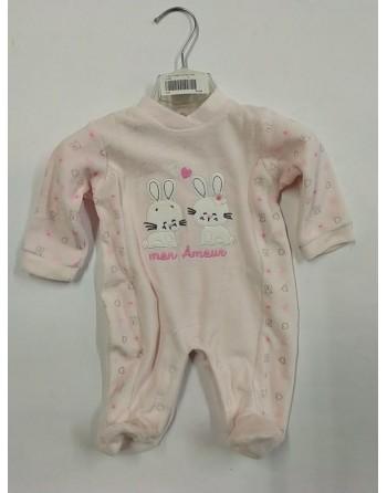 Tutina natalizia neonata ciniglia da 0 a 9 mesi