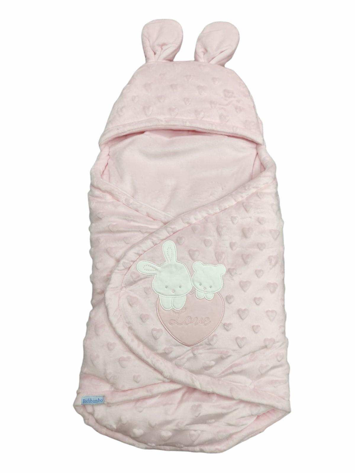 Baby sacco con orecchie taglia unica 0-12 mesi in ciniglia