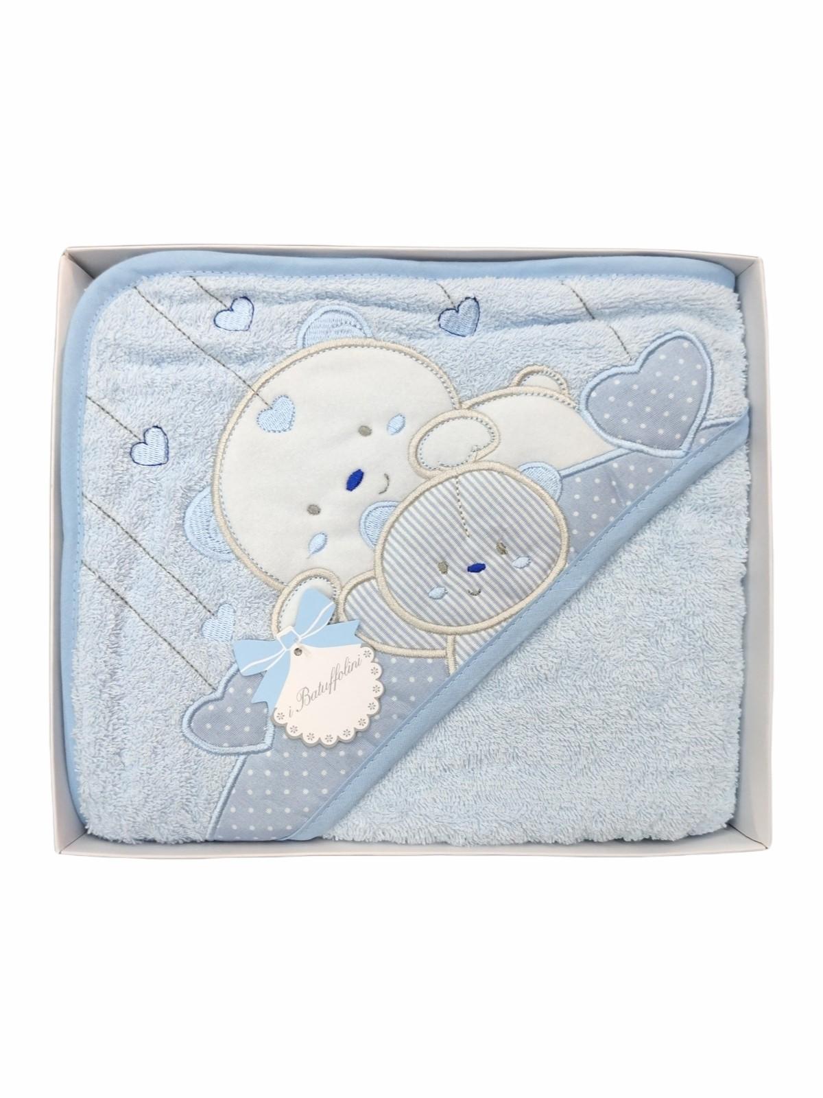Accappatoio triangolo spugna neonato da 0 a 12 mesi