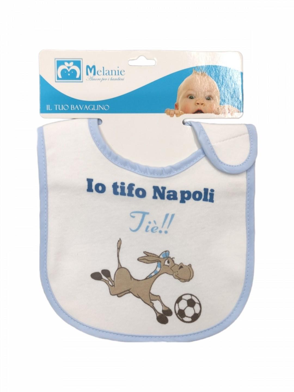 Bavetta in cotone con strappo Noi tifiamo Napoli!