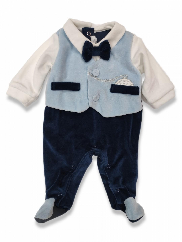 Tutina neonato ciniglia elegante 1-3 mesi