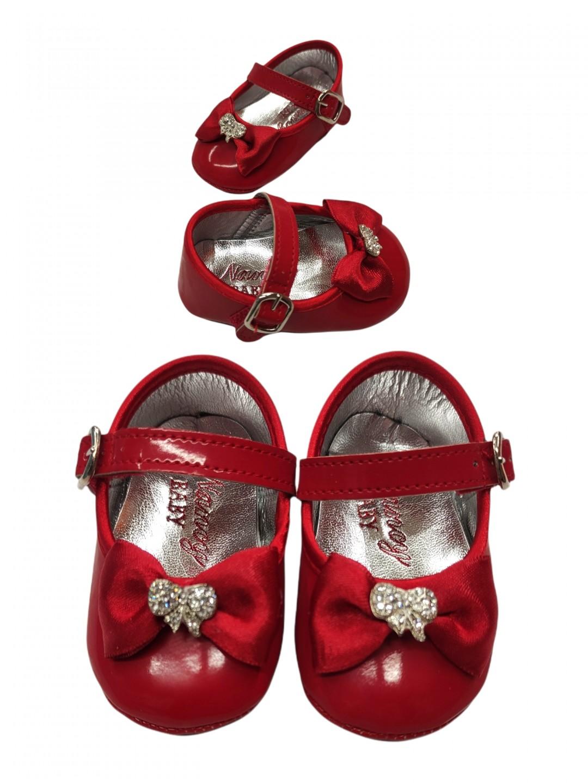 Scarpe neonato rosse da 0 a 9 mesi