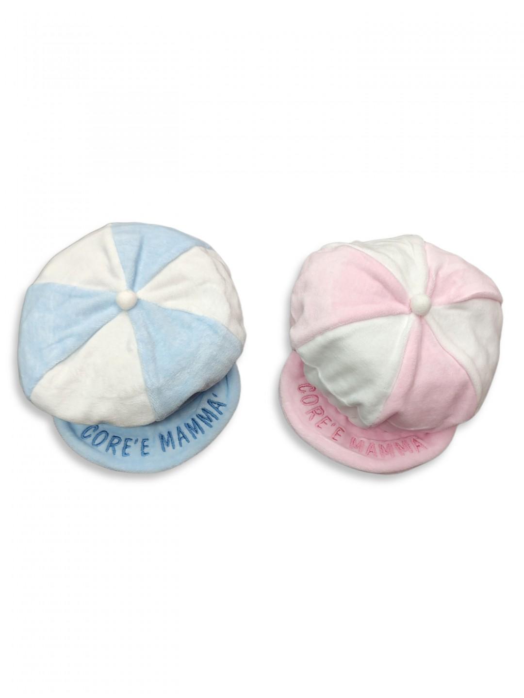 Cappellino neonato-a taglia unica 0-1 mese in ciniglia