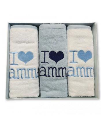 Asciugamano neonato 2 colori in spugna