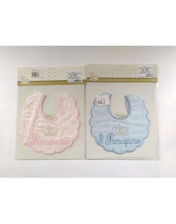 Bavaglini batista eleganti neonato