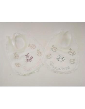 Bavaglini eleganti batista neonato