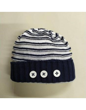 Cappellino artigianale cotone 0-3 mesi