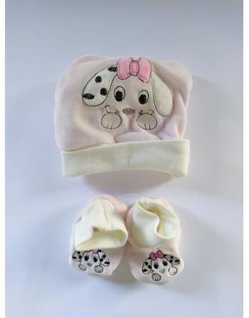 Cappello con babbucce invernale 0-3 mesi neonato